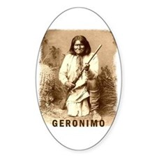 Geronimo Native American Apache Oval Decal