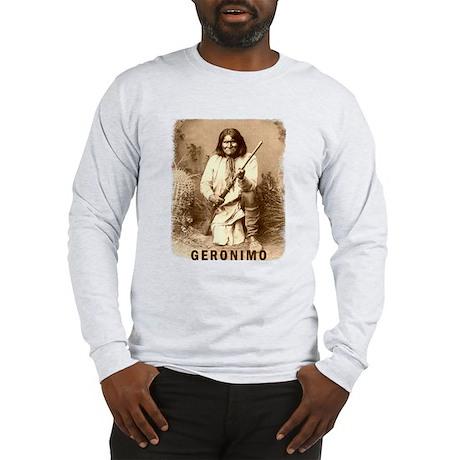 Geronimo Native American Apache Long Sleeve T-Shir