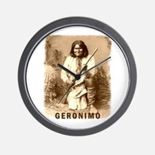 Geronimo Native American Apache Wall Clock