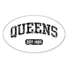 Queens Est 1683 Oval Decal