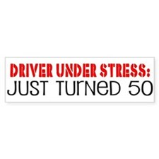 50th Birthday Bumper Bumper Bumper Sticker