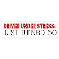 50th Birthday Bumper Car Sticker