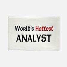 World's Hottest Analyst Rectangle Magnet