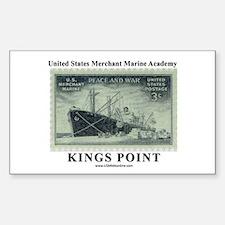 USMM Stamp Rectangle Decal