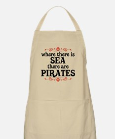 There are Pirates BBQ Apron