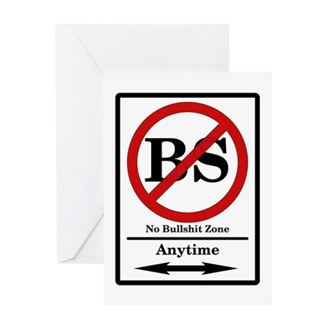 No BS Anytime Greeting Card