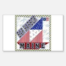 Bar Harbor Maine Rectangle Decal