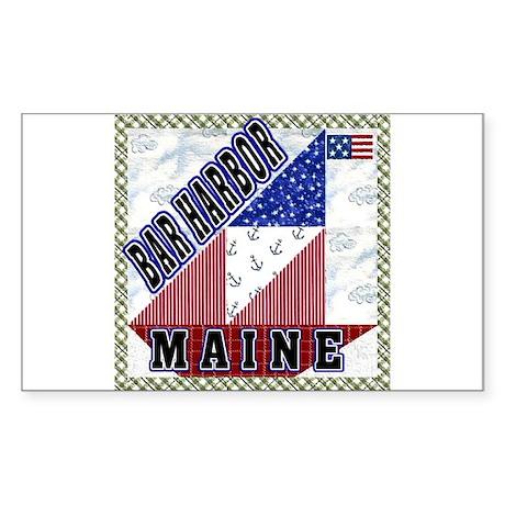 Bar Harbor Maine Rectangle Sticker