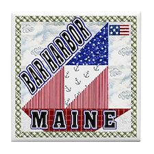 Bar Harbor Maine Tile Coaster
