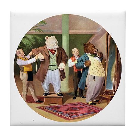 ROOSEVELT BEARS DRESS FOR SUCCESS Tile Coaster