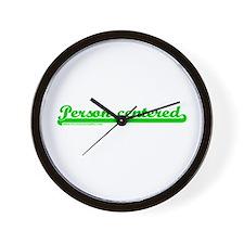 Softball Person Centered Gree Wall Clock