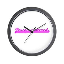 Softball Person Centered Pink Wall Clock