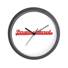 Softball Person Centered Red Wall Clock