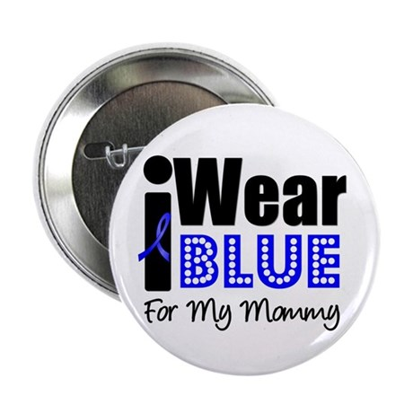 """I Wear Blue (Mommy) 2.25"""" Button (10 pack)"""