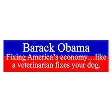 Obama Fixing Economy Bumper Bumper Sticker