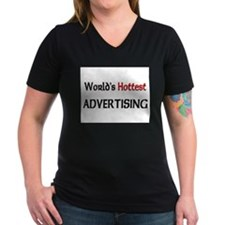 World's Hottest Advertising Women's V-Neck Dark T-