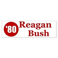 Reagan Bush Bumper Car Sticker
