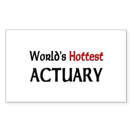 World's Hottest Actuary Rectangle Sticker