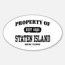 Property of Staten Island Oval Decal