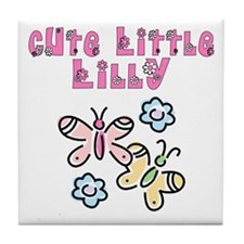 Cute Little Lilly Tile Coaster