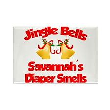 Savannah - Jingle Bells Rectangle Magnet