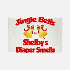 Shelby - Jingle Bells Rectangle Magnet