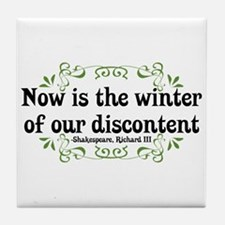 Winter of Discontent Tile Coaster