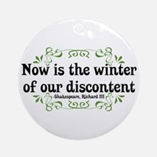 Winter of Discontent Ornament (Round)