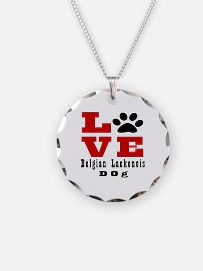 Love Belgian Leakenois Dog D Necklace Circle Charm