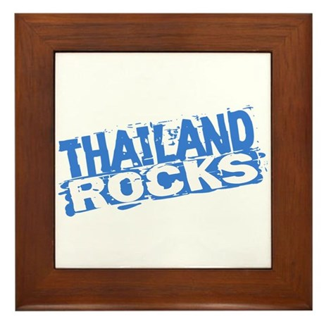 Thailand Rocks Framed Tile