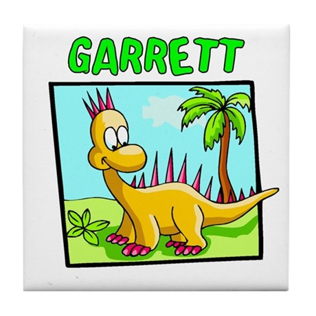 Garrett Dinosaur Tile Coaster