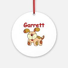 Garrett Puppy Dog Ornament (Round)