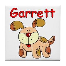Garrett Puppy Dog Tile Coaster