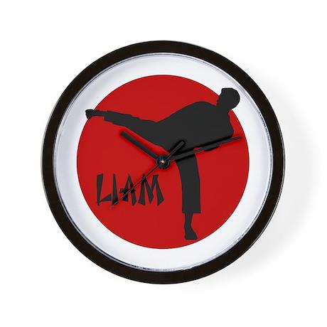 Liam Martial Arts Wall Clock