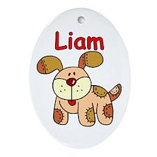 Liam Puppy Dog Oval Ornament