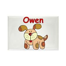 Owen Puppy Dog Rectangle Magnet