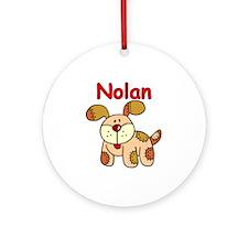 Nolan Puppy Dog Ornament (Round)