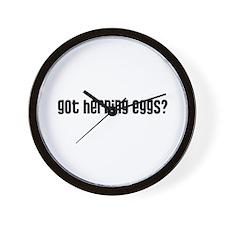 Got Herring Eggs? Wall Clock
