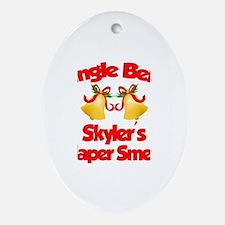 Skyler - Jingle Bells Oval Ornament