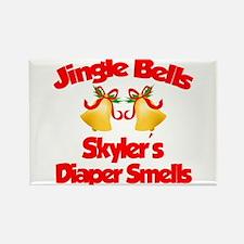 Skyler - Jingle Bells Rectangle Magnet