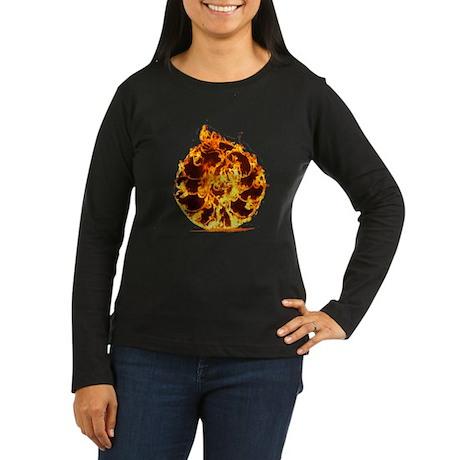 Burning ring of fire Women's Long Sleeve Dark T-Sh