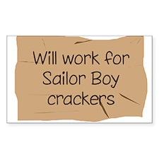 Will work for Sailor Boy crac Rectangle Sticker 1