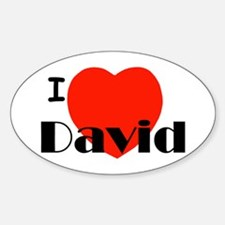 I Love David Oval Sticker (10 pk)
