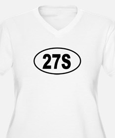 27S Womes Plus-Size V-Neck T-Shirt
