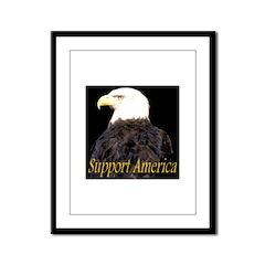Support America Framed Panel Print