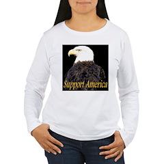 Support America Women's Long Sleeve T-Shirt