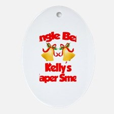 Kelly - Jingle Bells Oval Ornament