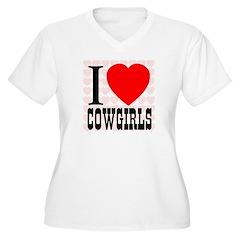 I Love Cowgirls T-Shirt