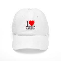 I Love Cowgirls Baseball Cap