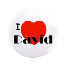 "I Love David 3.5"" Button (100 pack)"